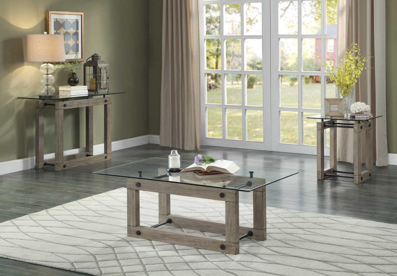 Homelegance Mesilla Cocktail/Coffee Table Set - Natural wood tone