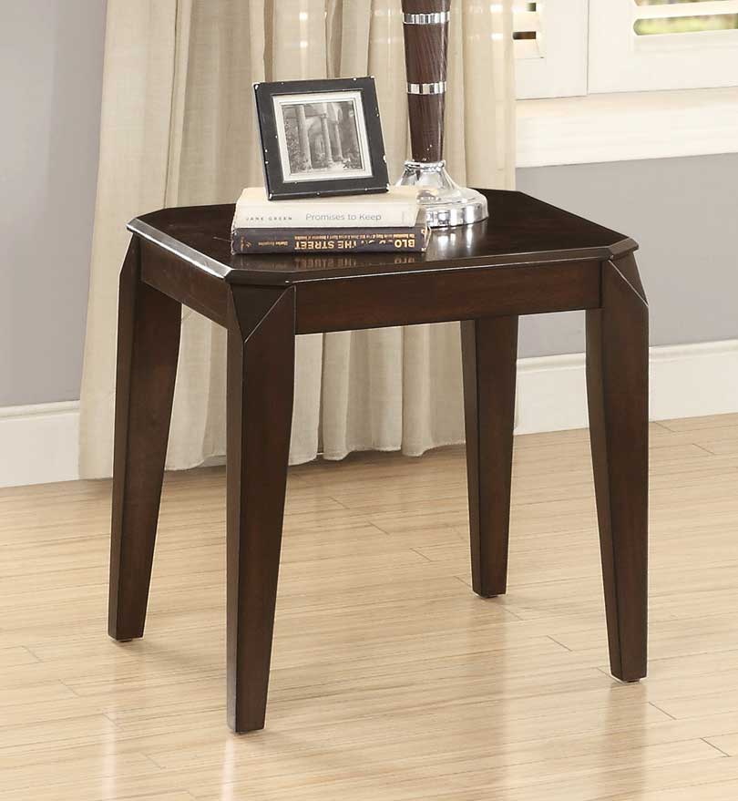 Homelegance Sikeston End Table - Warm Cherry