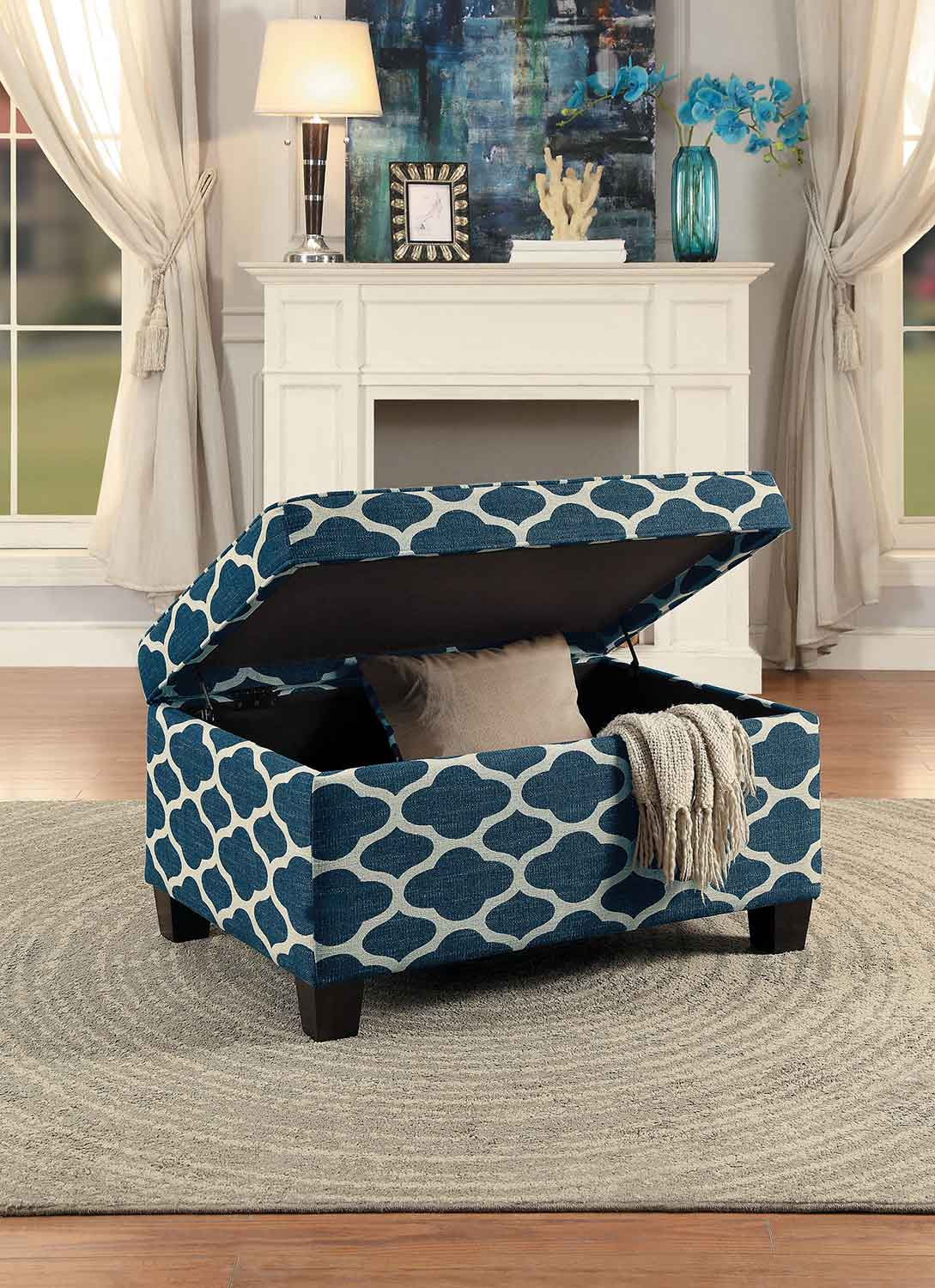 Homelegance Tala Lift-Top Storage Coffee/Cocktail Ottoman