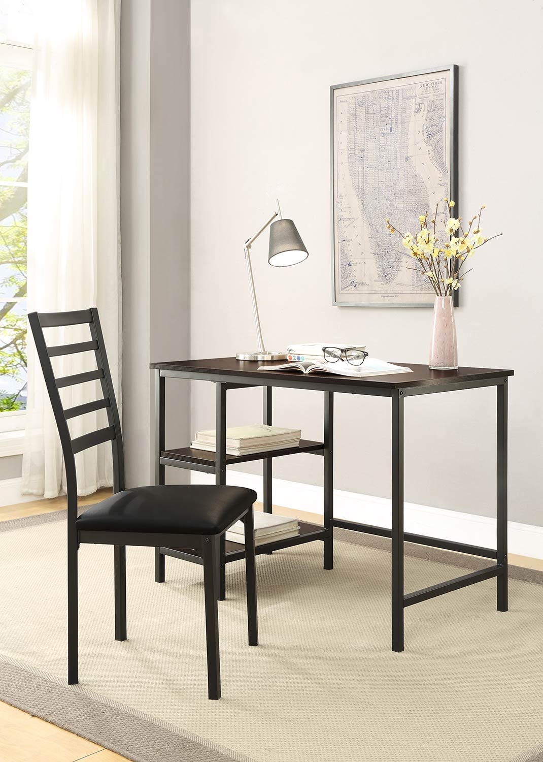 Homelegance Madigan Writing Desk and Chair