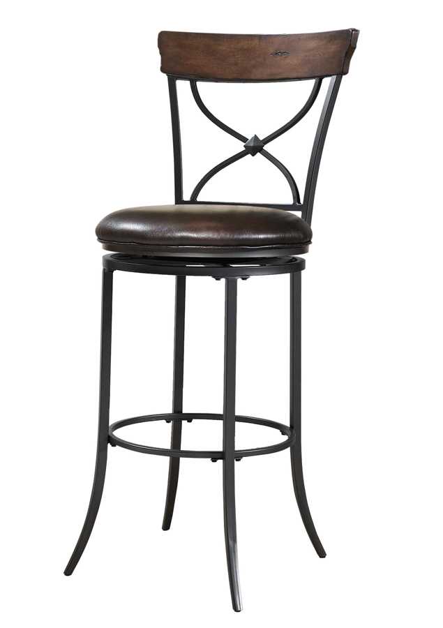 Hillsdale Cameron X-Back Swivel Counter Stool