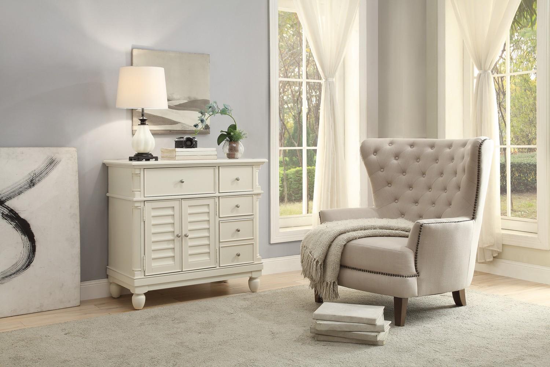 Homelegance Lourdes Cabinet - White