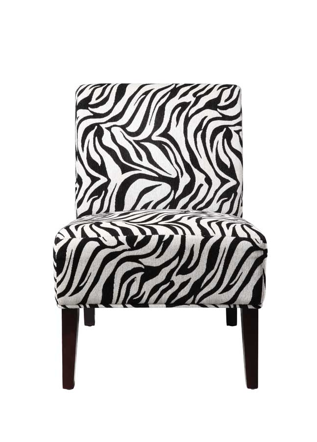 Homelegance Lifestyle Armless Lounge Chair in Zebra