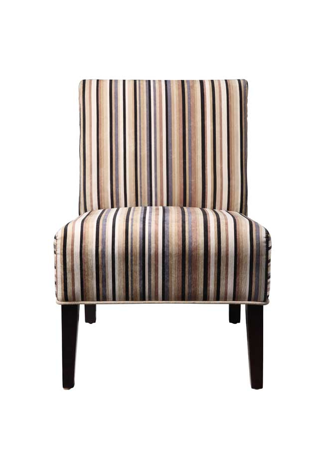 Homelegance Lifestyle Armless Lounge Chair in Stripe