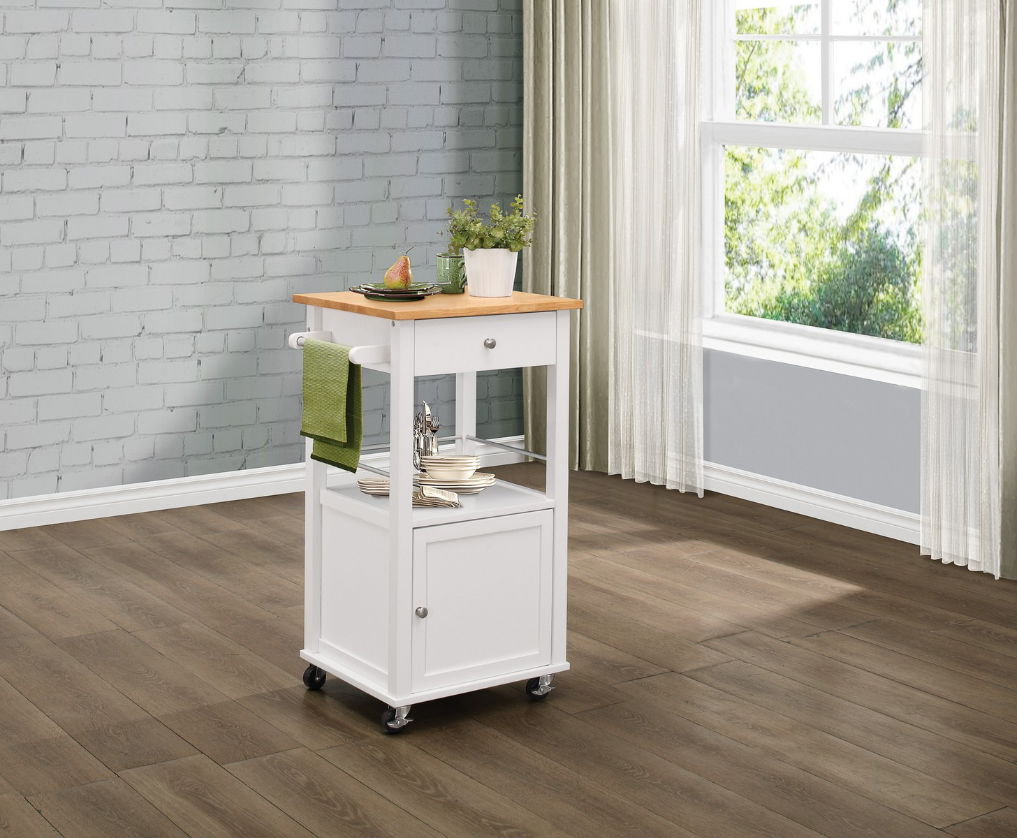 Homelegance Kady Kitchen Cart with Casters