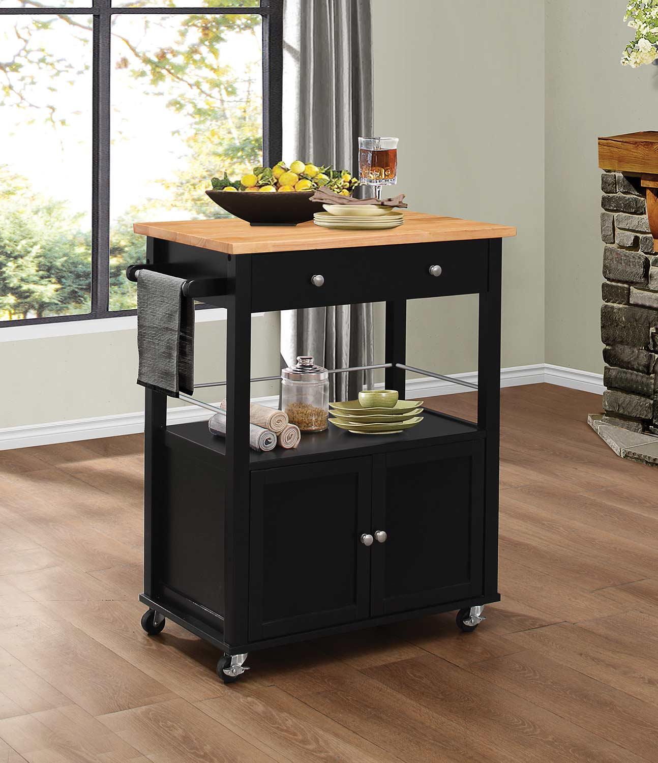 Homelegance Denham Kitchen Cart with Casters