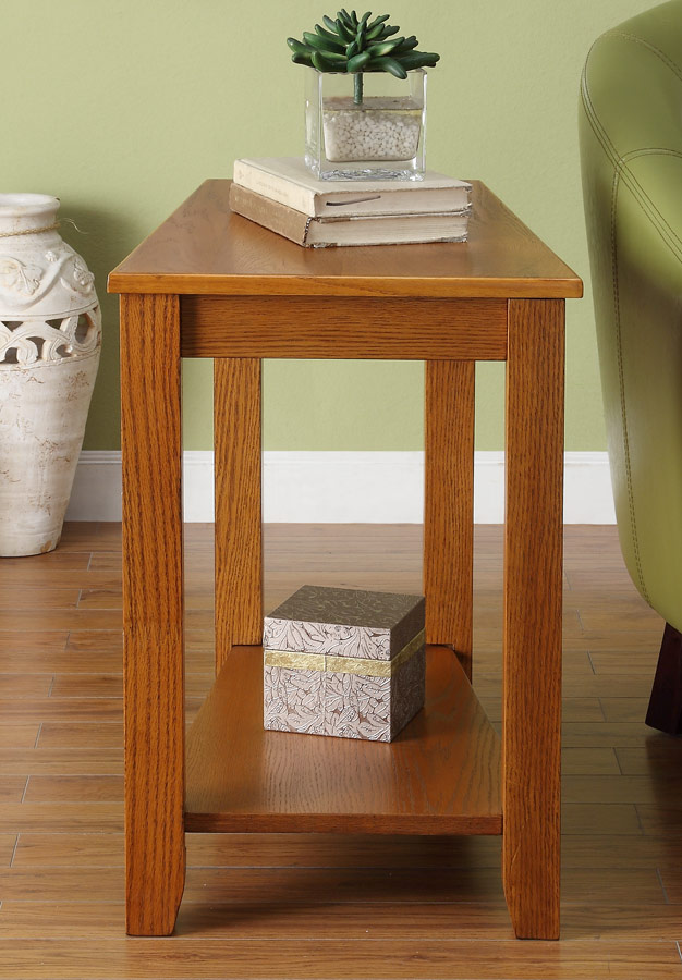 Homelegance Elwell Chairside Table - Wedge - Oak