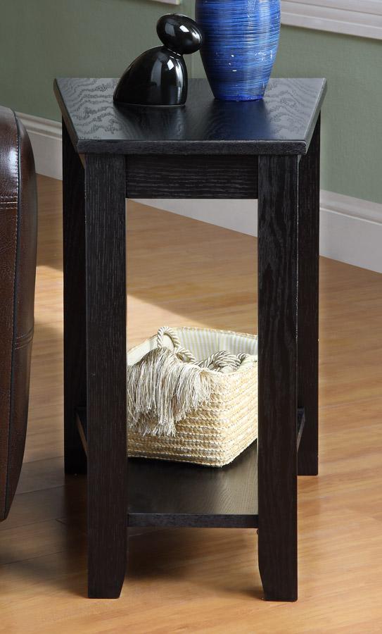 Homelegance Elwell Chairside Table - Wedge - Black