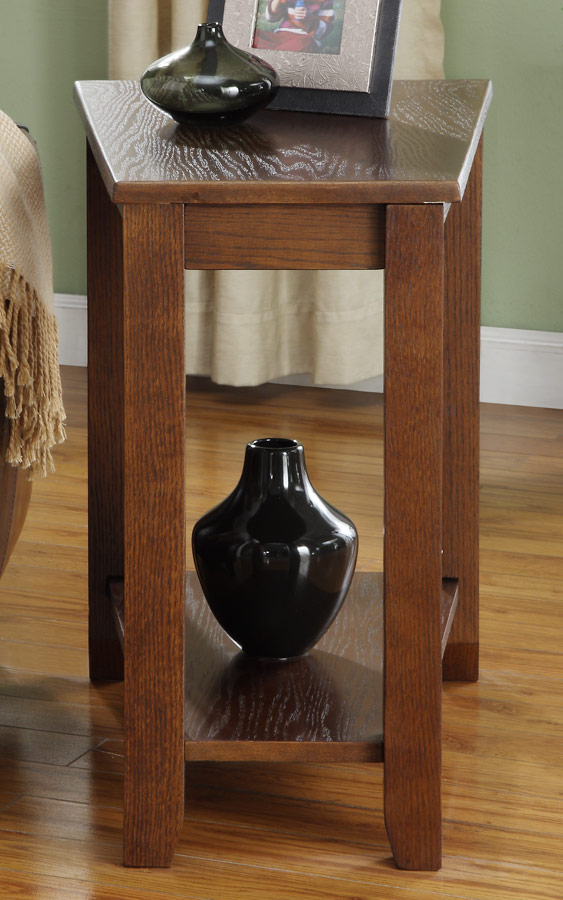 Homelegance Elwell Chairside Table - Wedge - Espresso