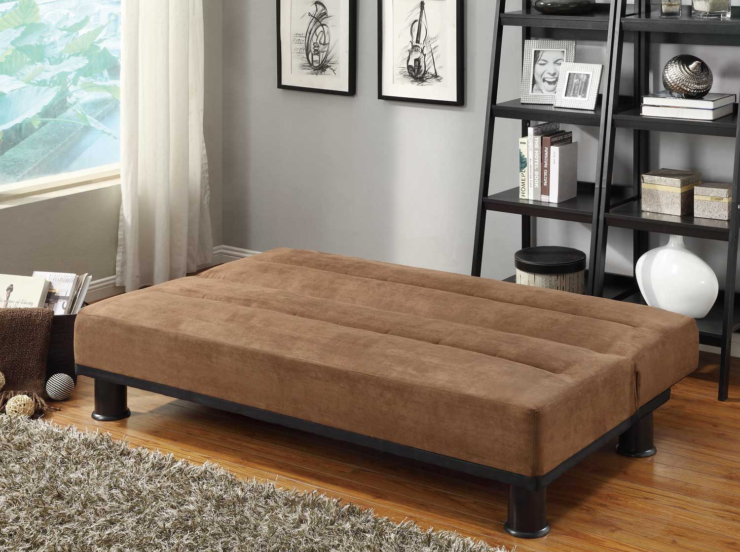 Homelegance Callie Click-Clack Sofa Bed - Brown - Microfiber