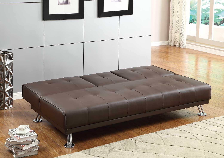 Homelegance Profile Click Clack Sofa Bed Brown Brown