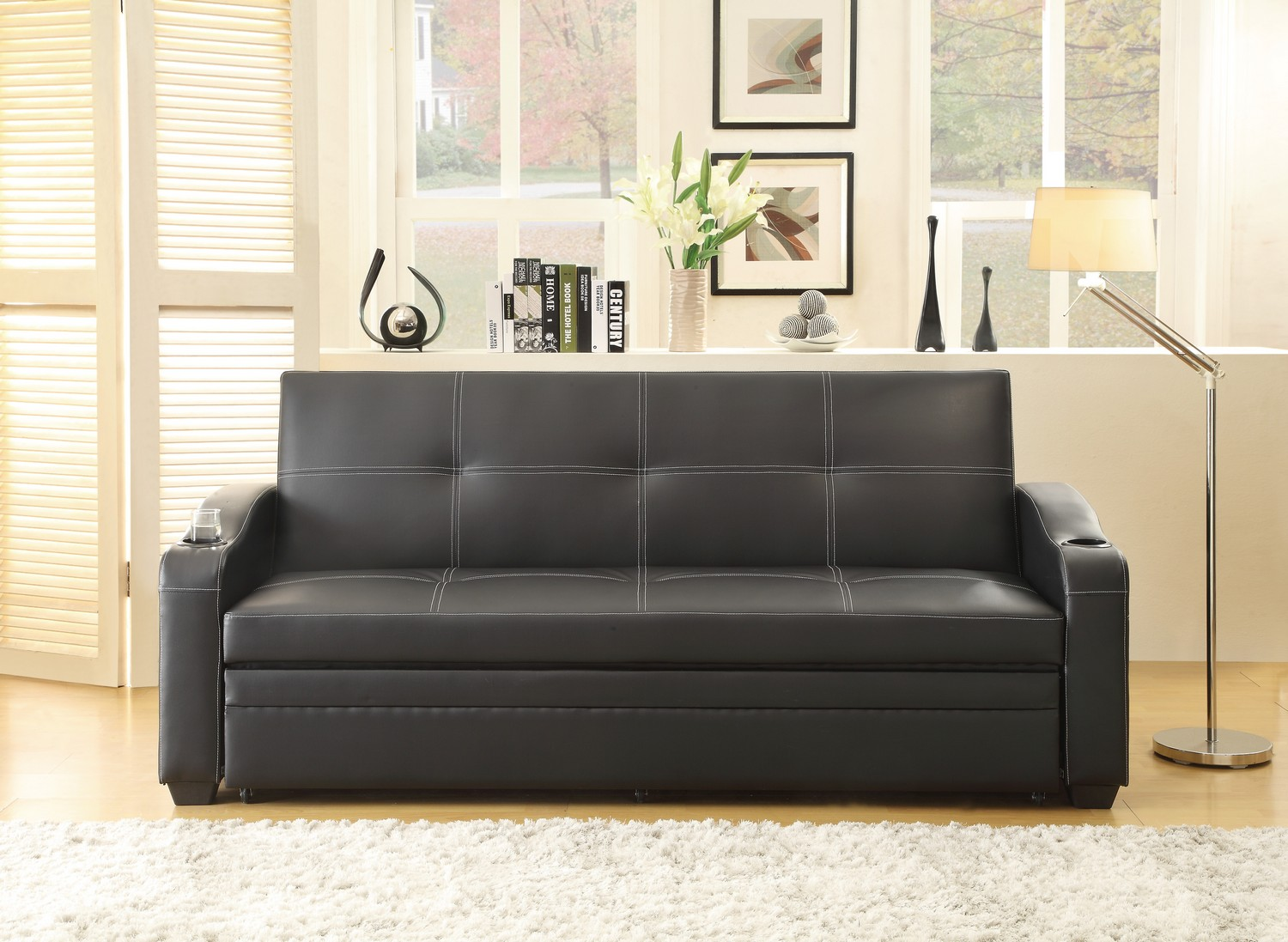 Homelegance Marcelo Elegant Lounger - Sofa Bed - Black
