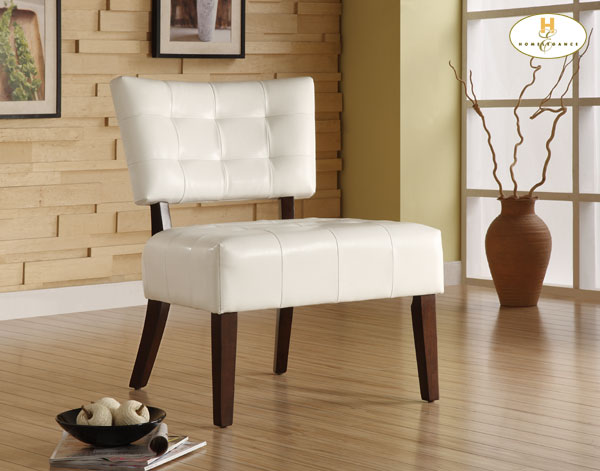 Homelegance Warner Accent Chair - White