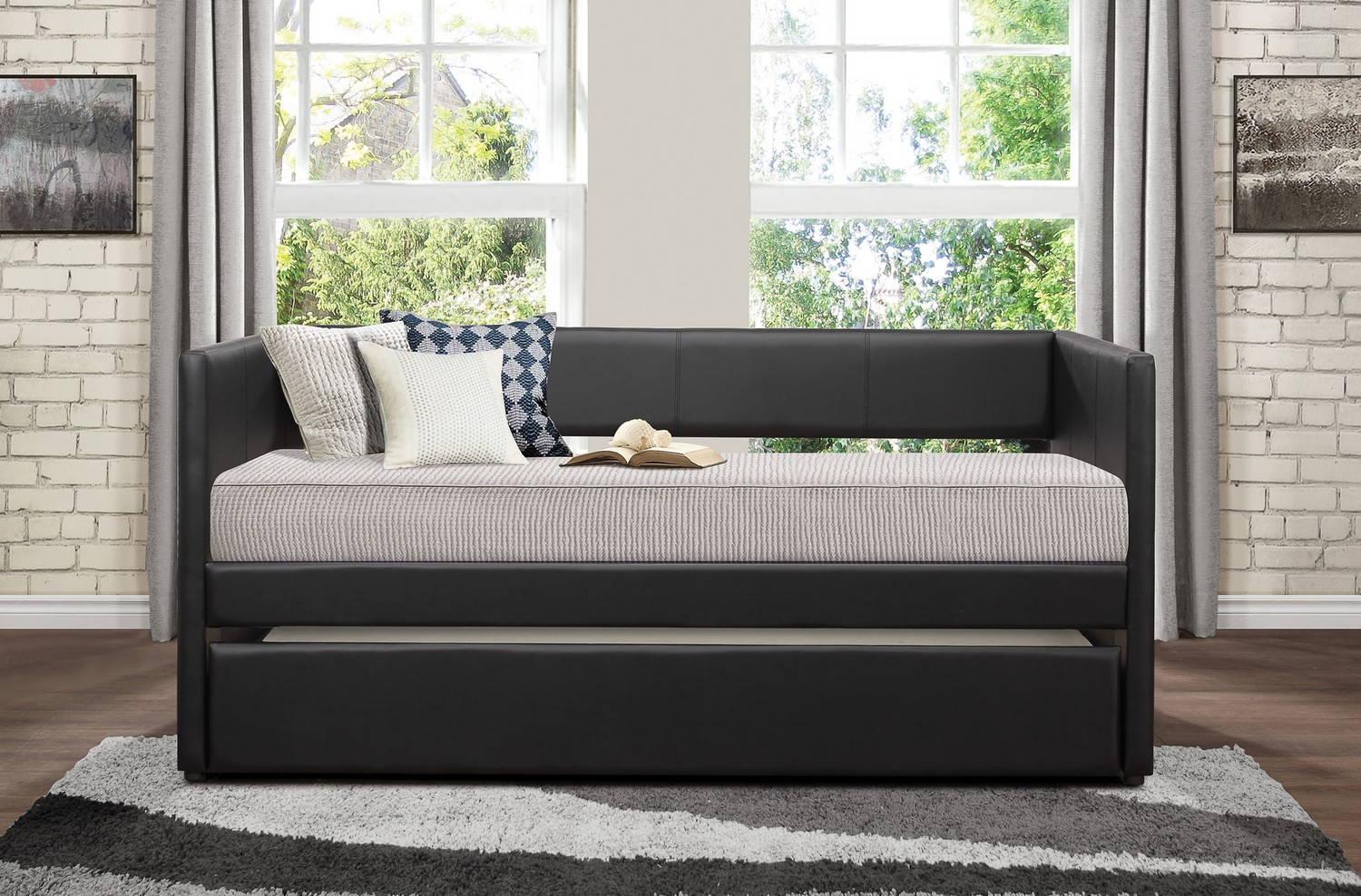 Homelegance Andra Daybed with Trundle - Black