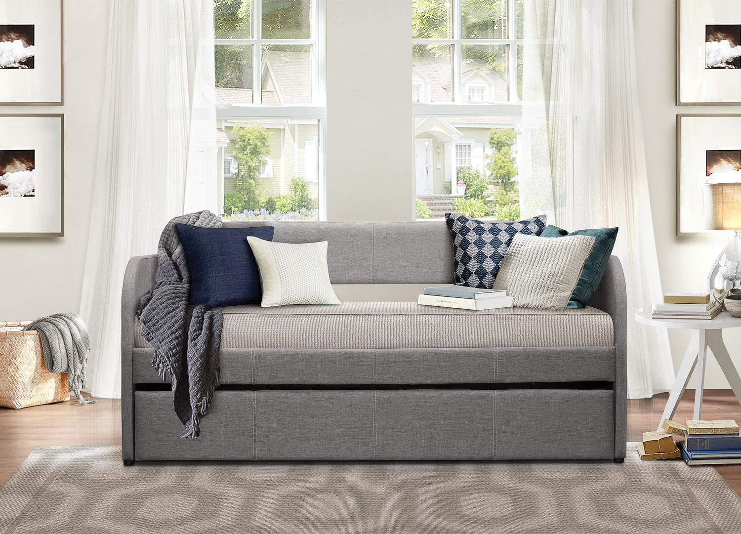 Homelegance Roland Daybed with Trundle - Grey