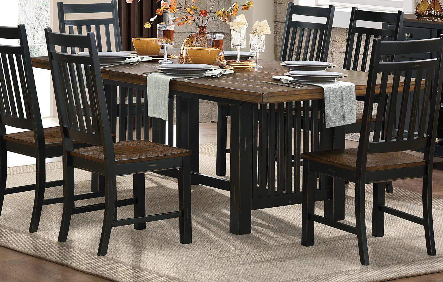 Homelegance Three Falls Dining Table - Black