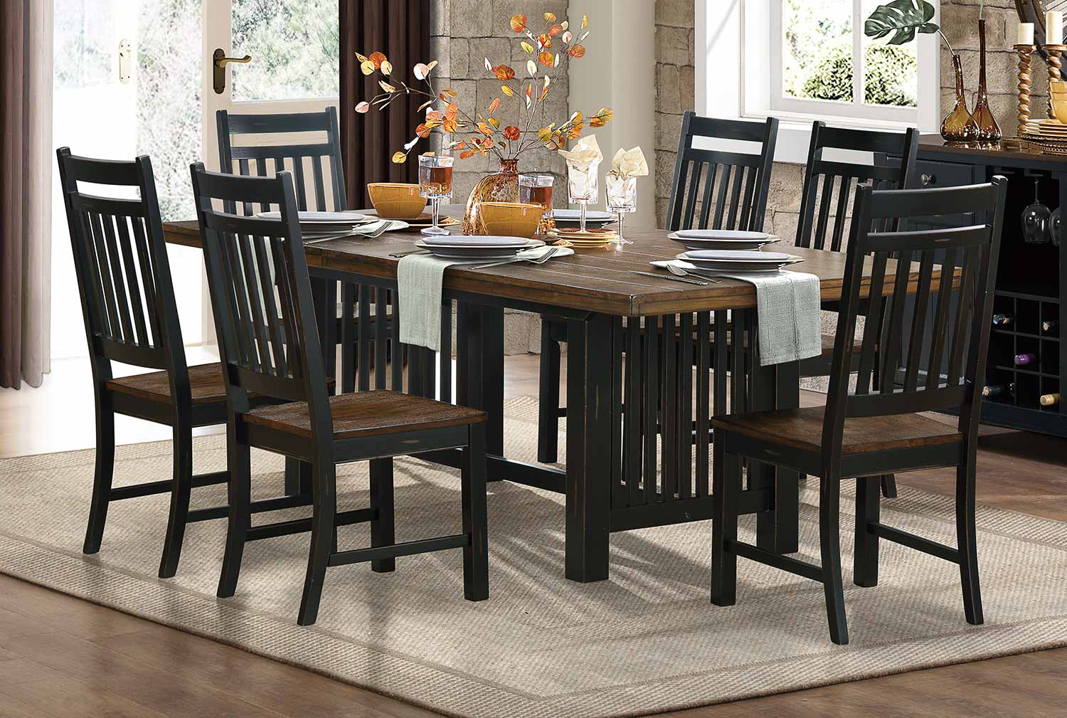 Homelegance Three Falls Dining Set - Black