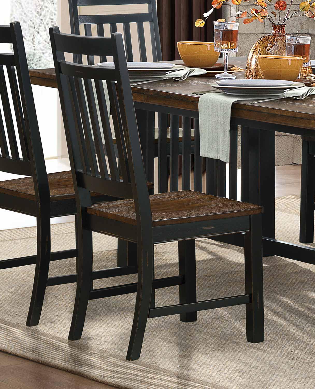 Homelegance Three Falls Side Chair - Black