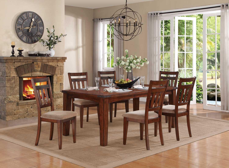 Homelegance Oldsmar Dining Set - Dark Oak