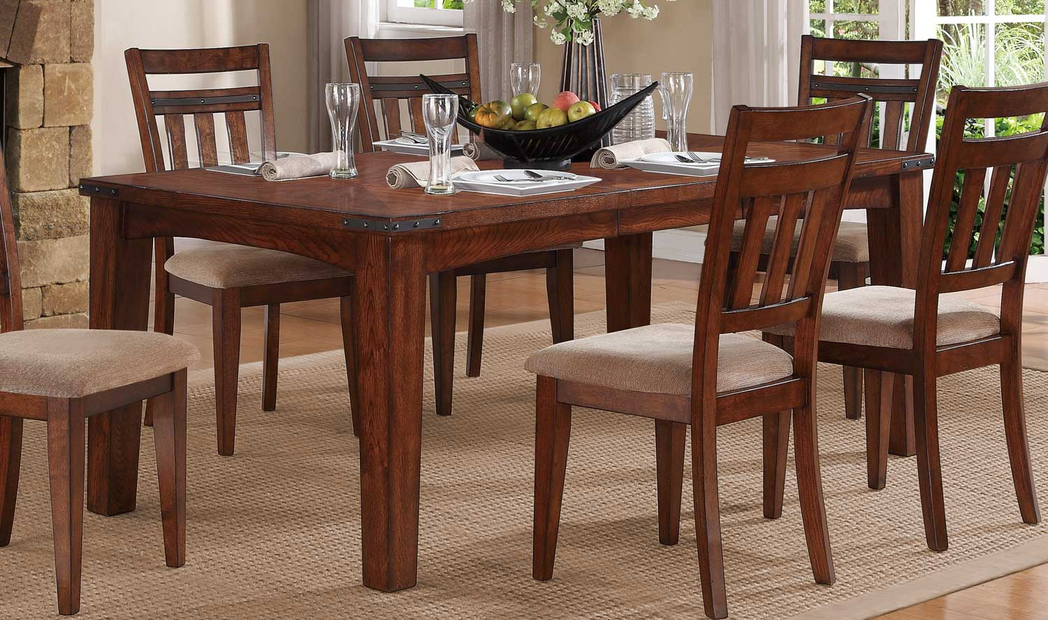 Homelegance Oldsmar Dining Table - Dark Oak