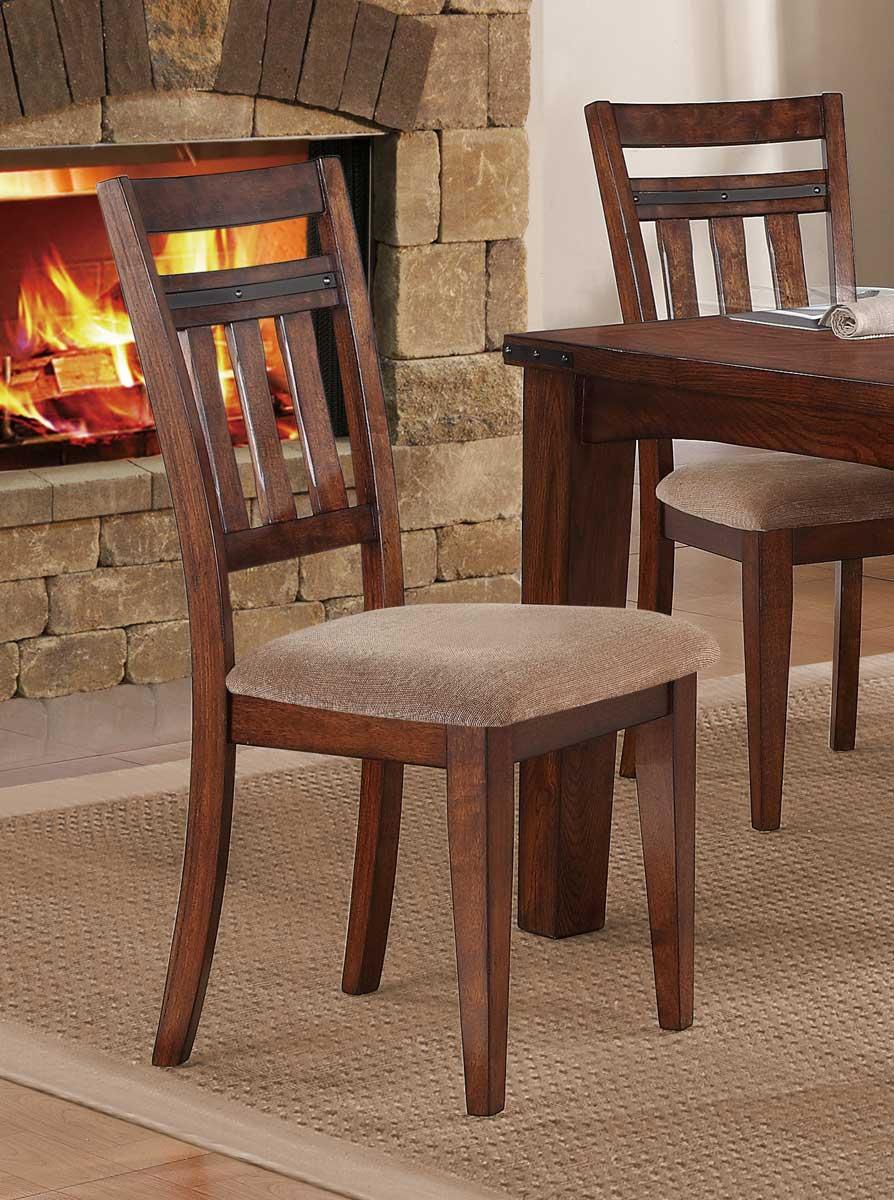 Homelegance Oldsmar Side Chair - Neutral Toned Brown Fabric