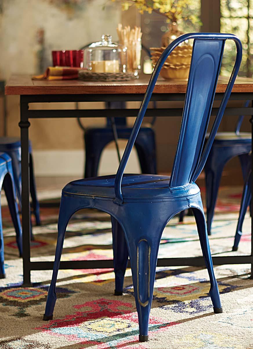 Homelegance Amara Blue Metal Chair - Blue