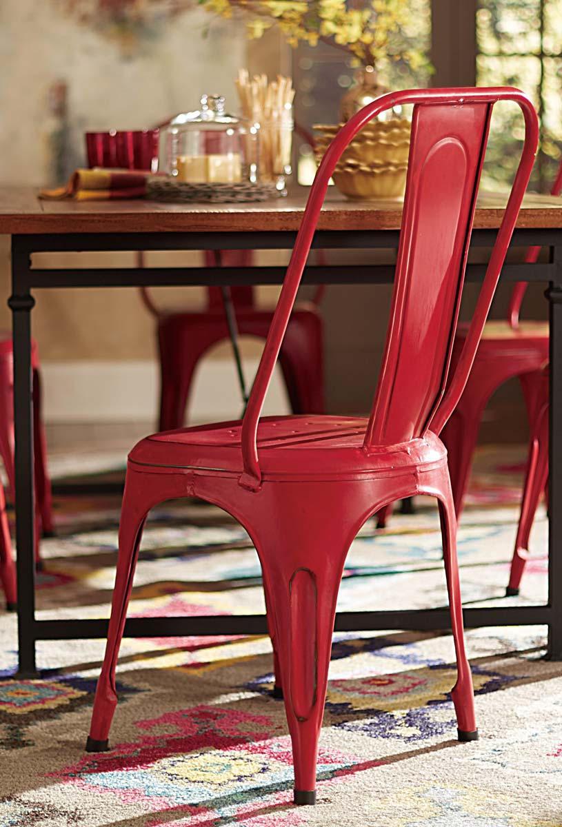 Homelegance Amara Red Metal Chair - Red
