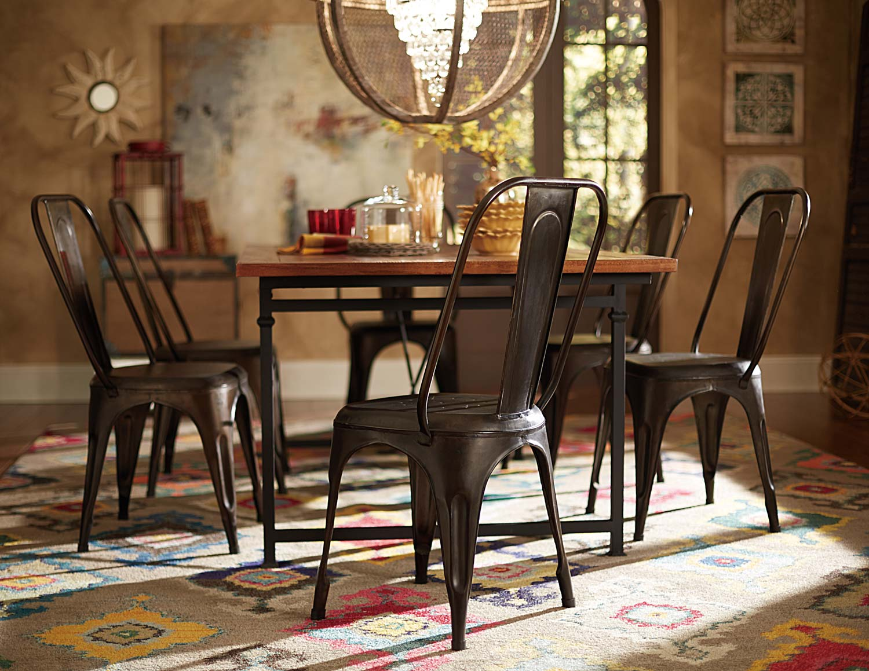 Homelegance Amara Rustic Metal Chair - Rustic Brown