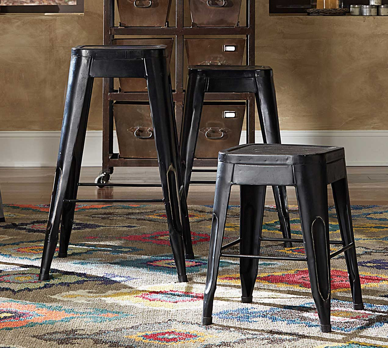 Homelegance Amara 29in Metal Bar Stool - Black