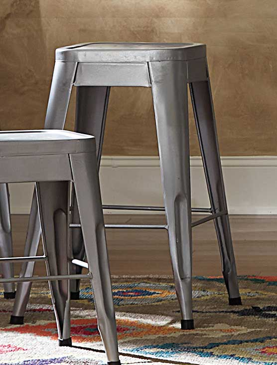 Homelegance Amara 24in Metal Counter Stool - Silver