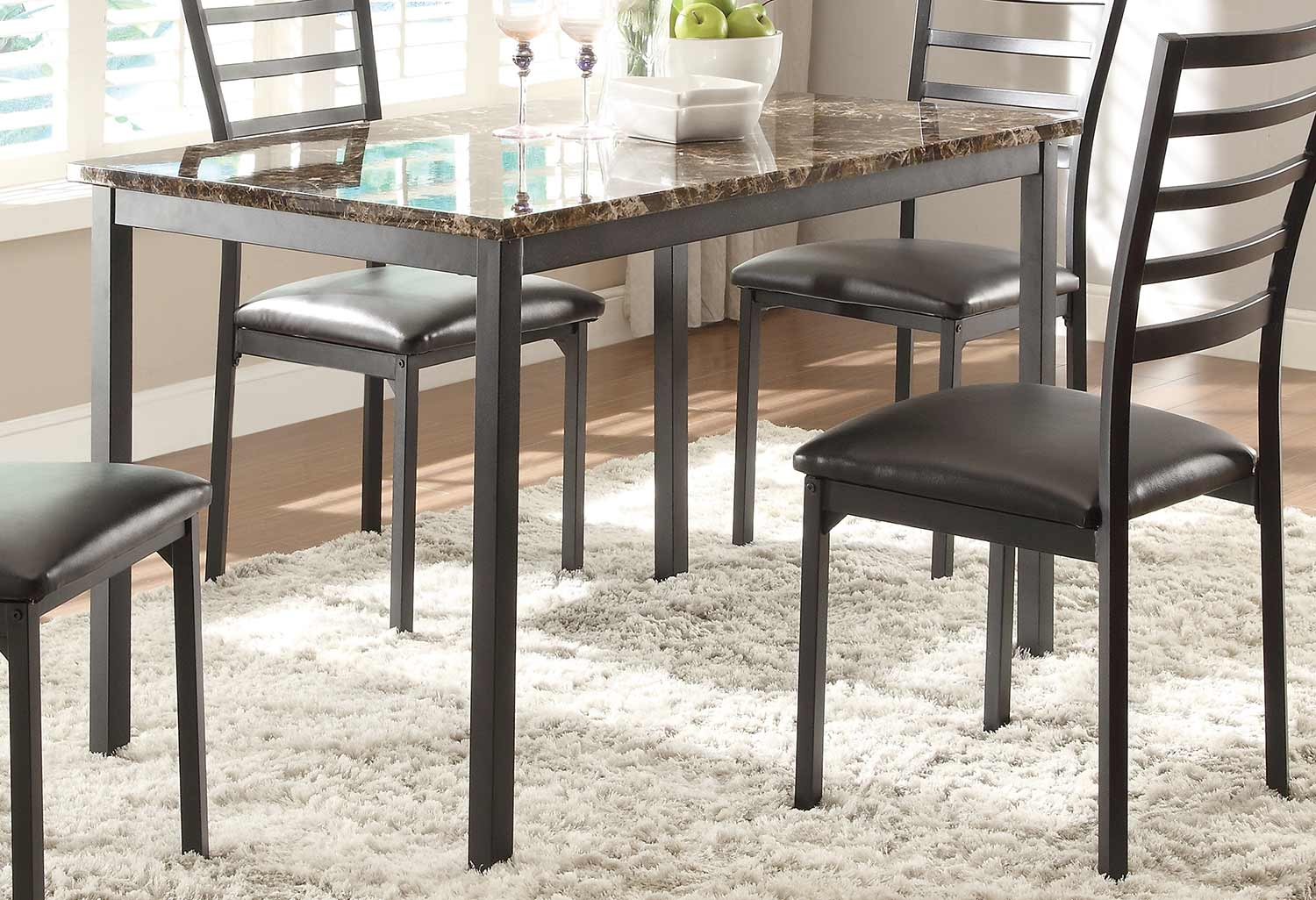 Homelegance Flannery Dining Table - Black Metal