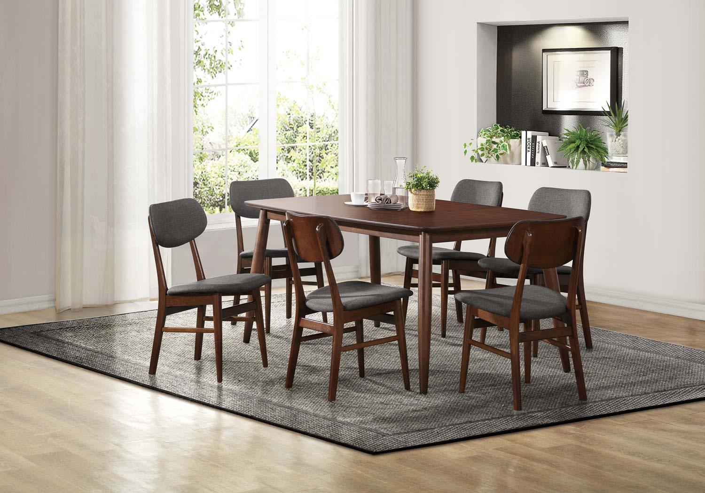 Homelegance Lev Dining Set - Walnut