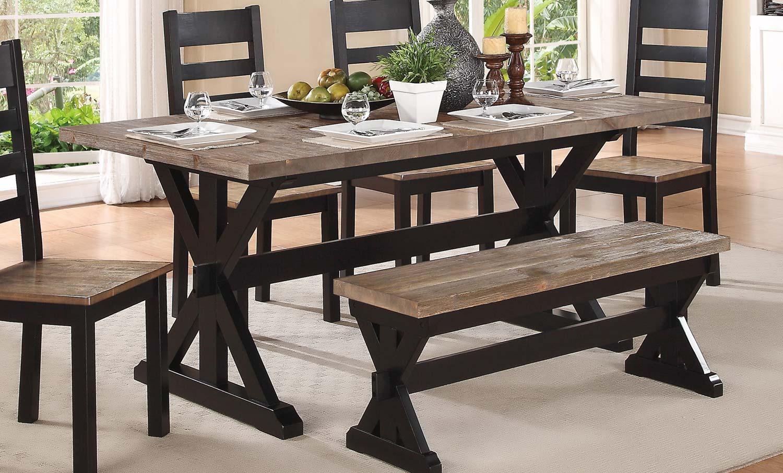Homelegance North Port Trestle Dining Table
