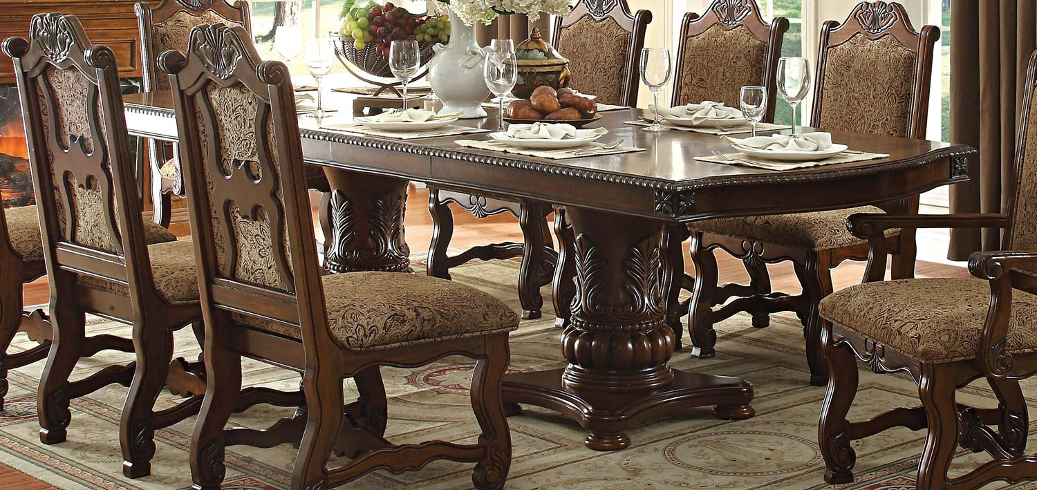 Homelegance Thurmont Double Pedestal Dining Table - Cherry