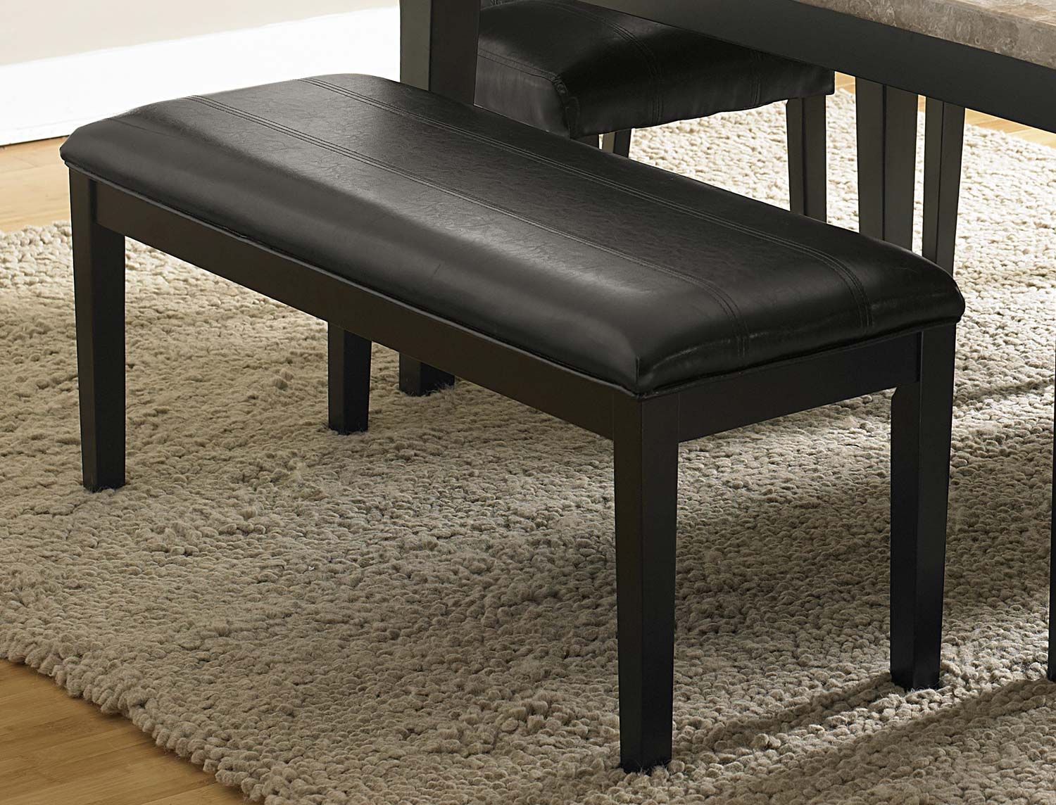 Homelegance Cristo Bench - Dark Brown Bi-Cast Vinyl