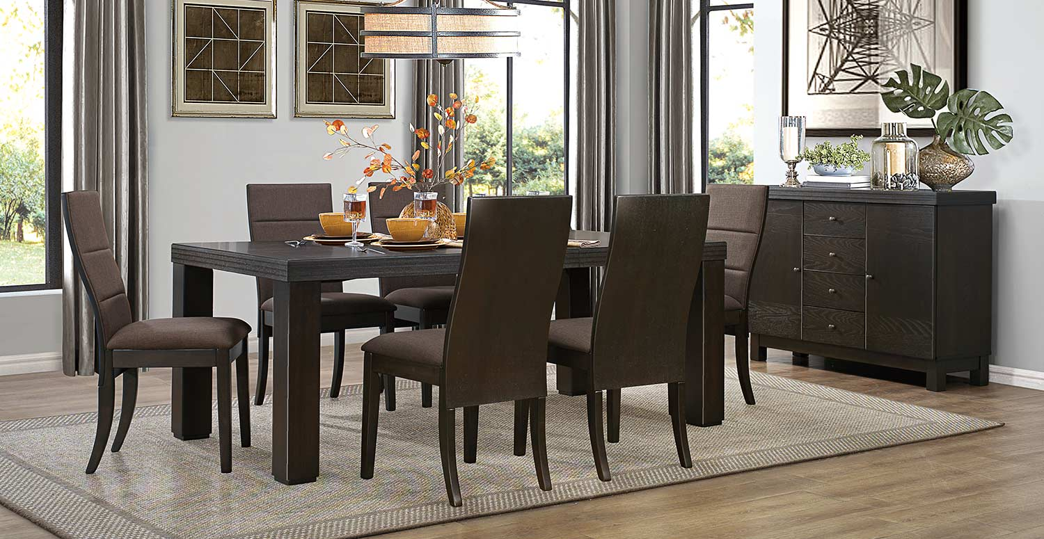 Homelegance Pinole Dining Set - Dark Espresso