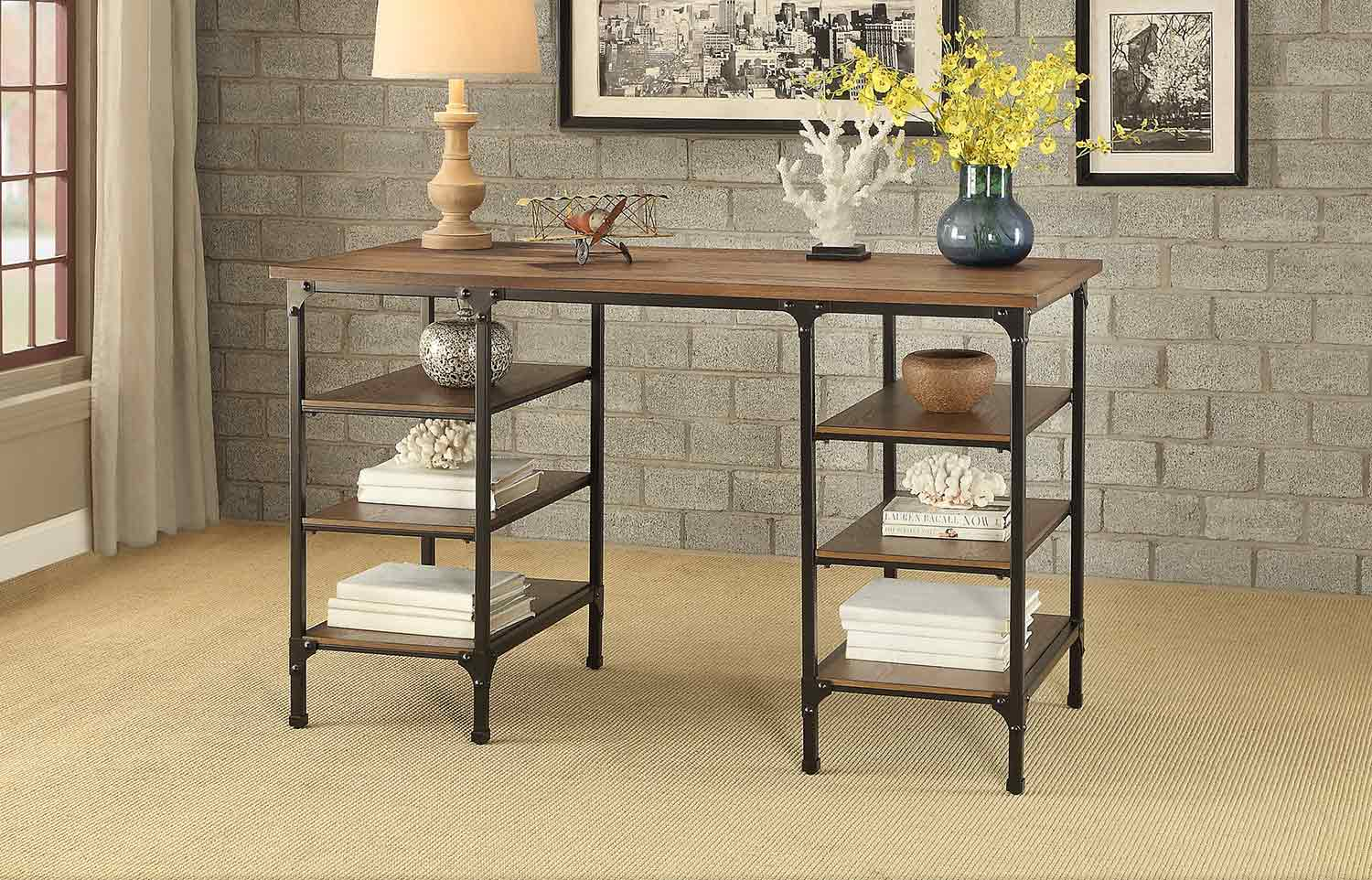 Homelegance Millwood Counter Height Writing Desk - Distressed Weathered Ash