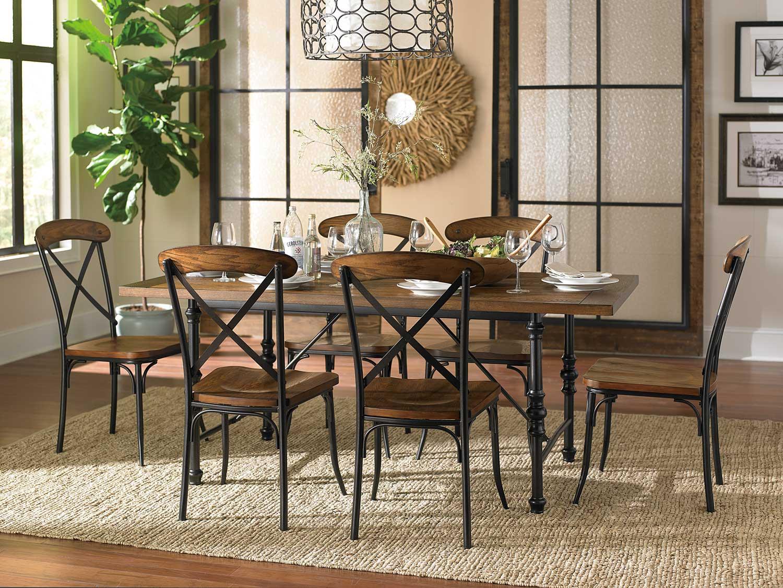 Homelegance Millwood Dining Set - Ash Veneer
