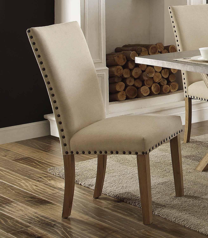 Homelegance Luella Side Chair - Weathered Oak