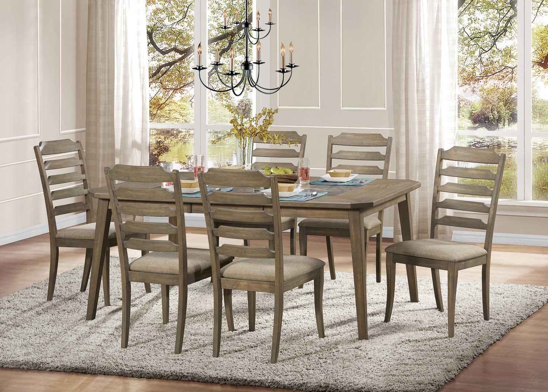 Homelegance Geranium Dining Set - Driftwood