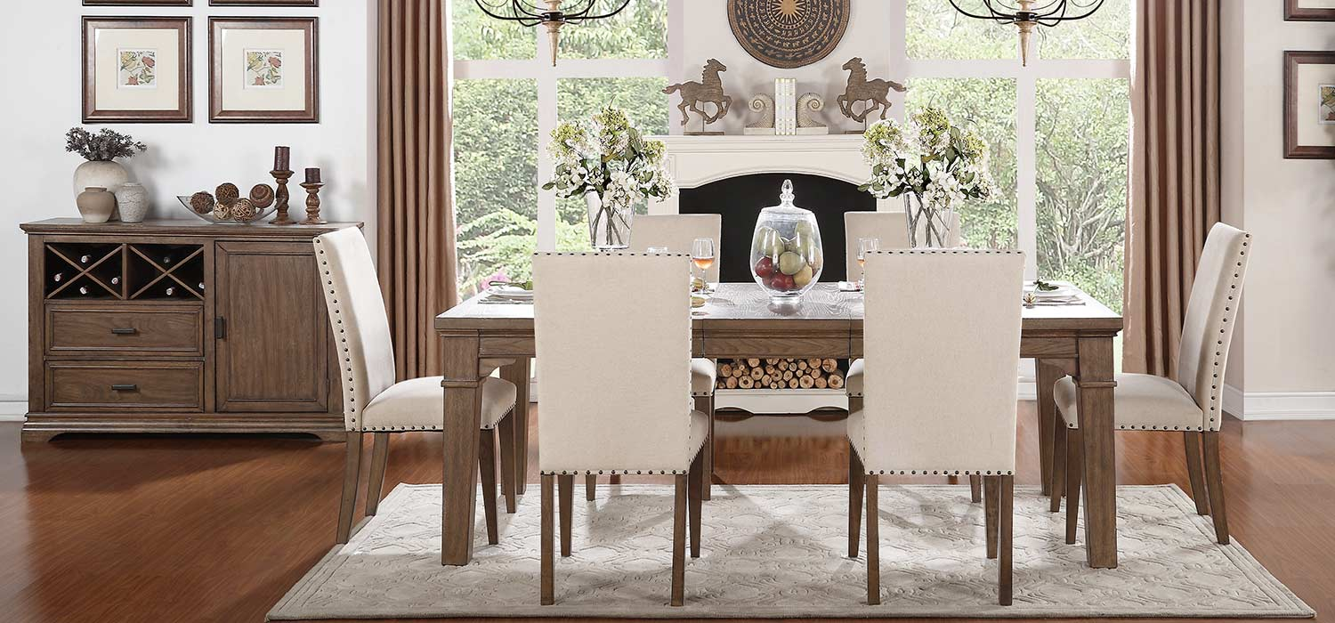 Homelegance Mill Valley Dining Set - Weathered Wash