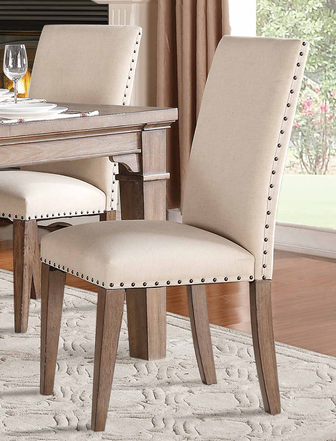 Homelegance Mill Valley Side Chair - Weathered Wash