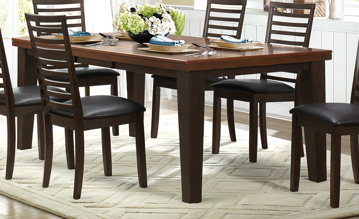 homelegance walsh dining table two tone 5109 82 at. Black Bedroom Furniture Sets. Home Design Ideas