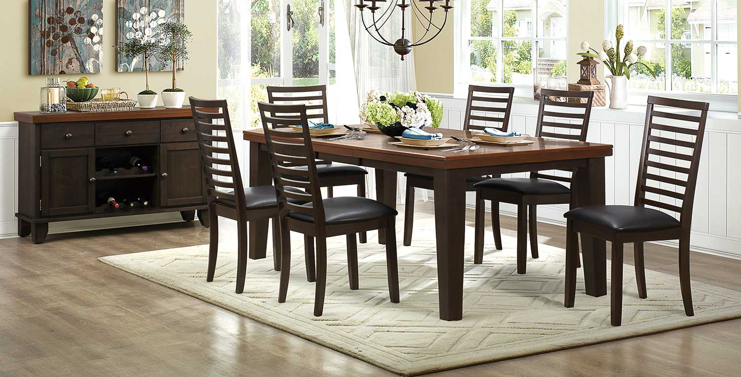 Homelegance Walsh Dining Set - Two-Tone