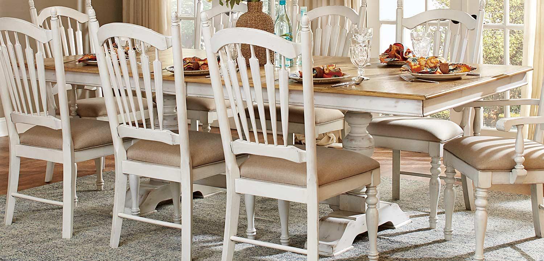 oak and white kitchen table