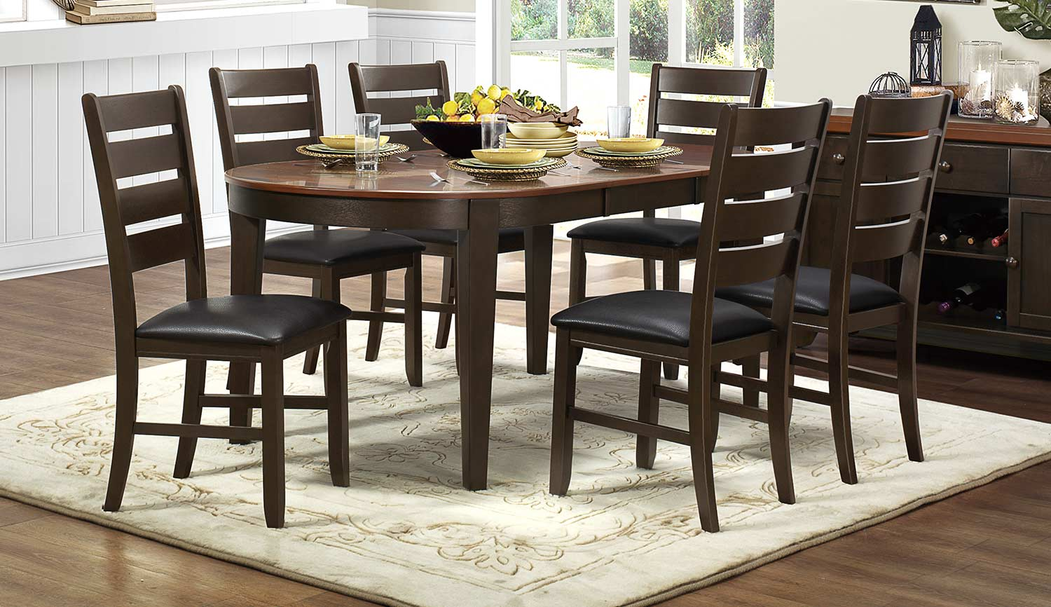 Homelegance Grunwald Dining Set - Dark Brown