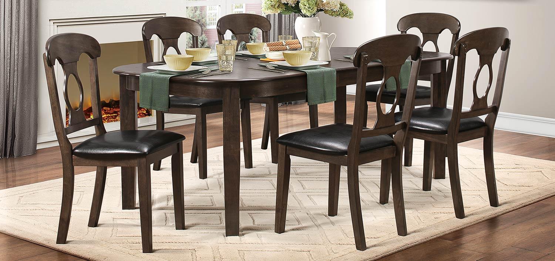Homelegance Lemoore Dining Set - Weathered Brown