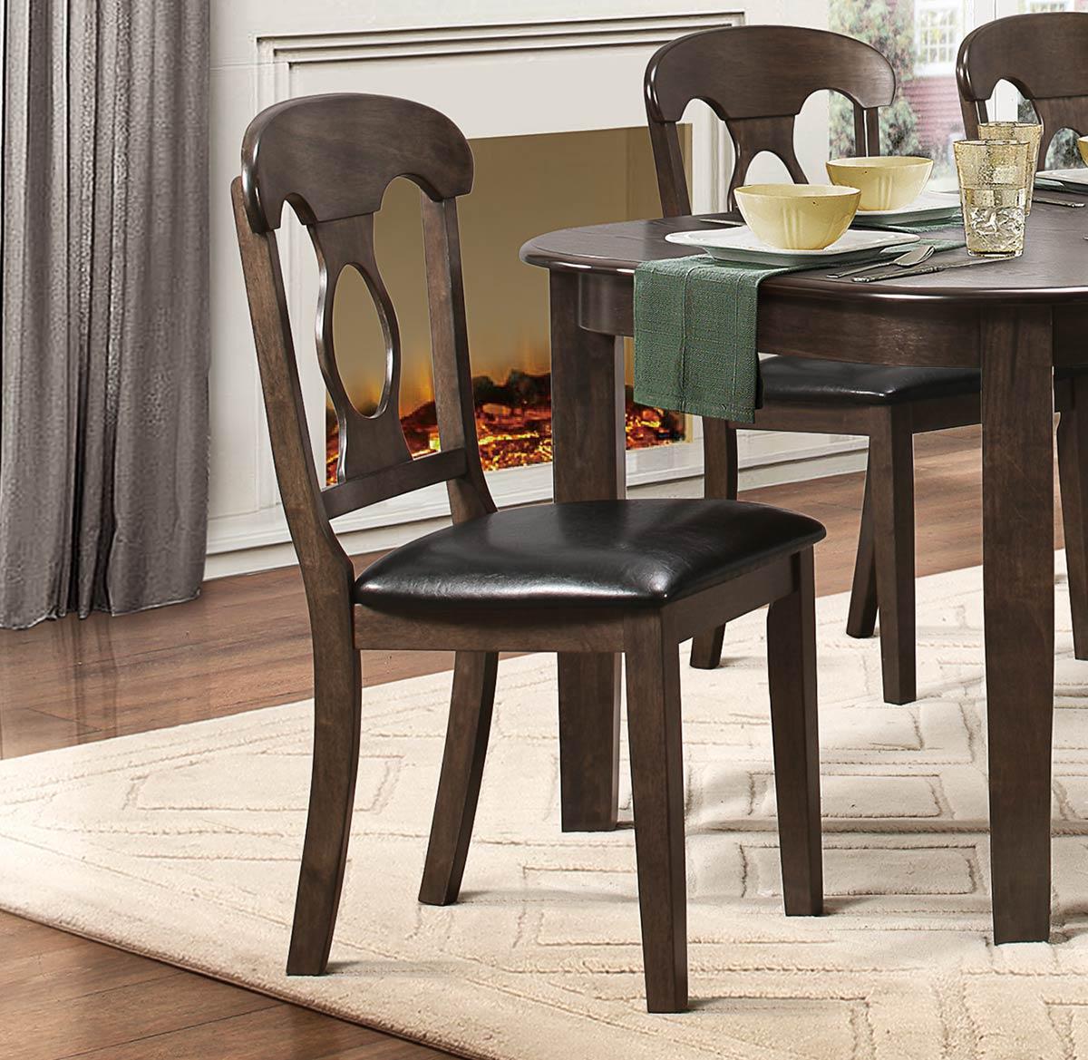 Homelegance Lemoore Side Chair - Weathered Brown