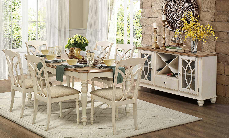 Homelegance Azalea Dining Set Antique White 5145 Dining