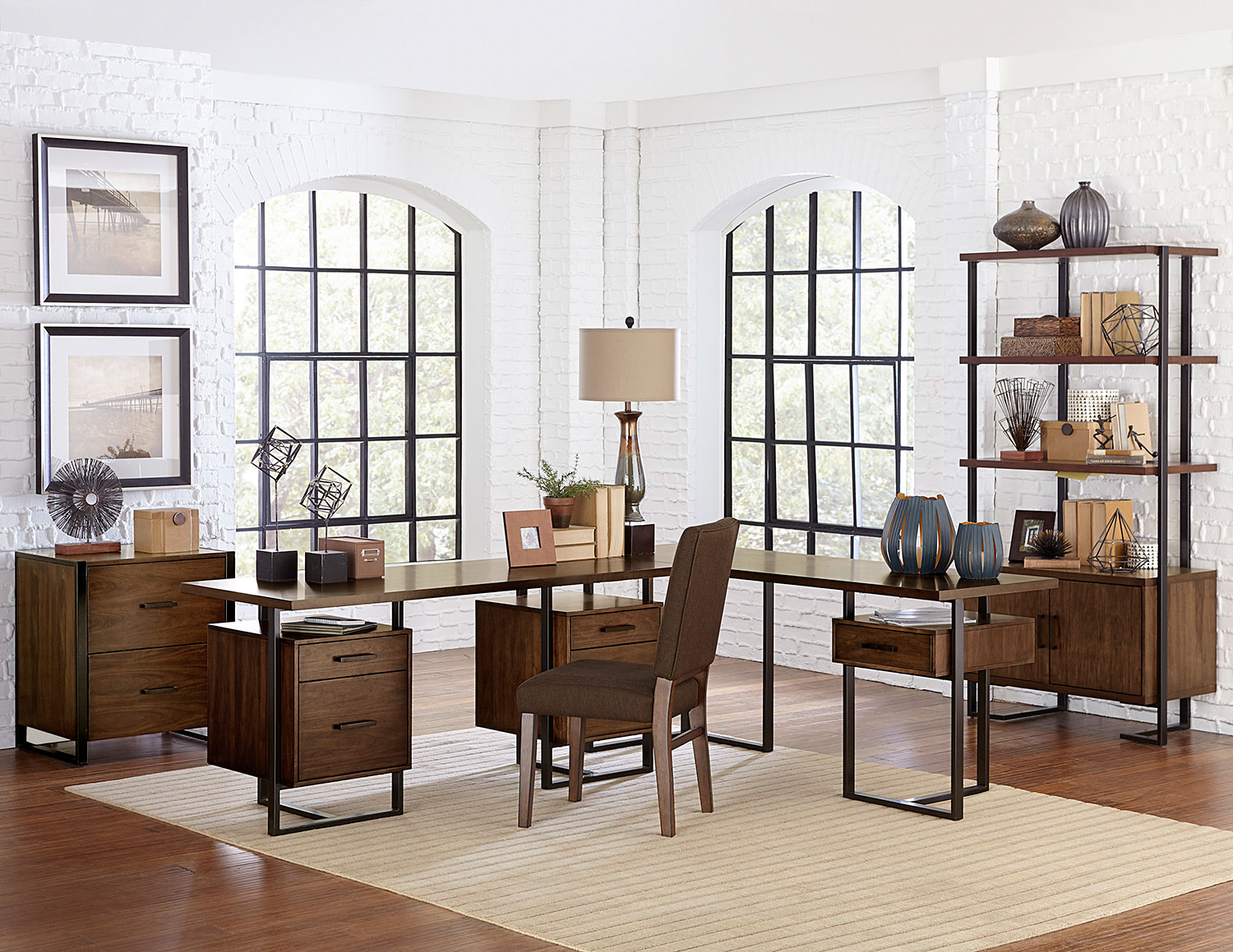 Homelegance Sedley Home Office Set - Walnut